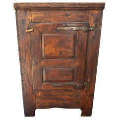 Charming Small 18th Century French Provincial Rustic Cupboard