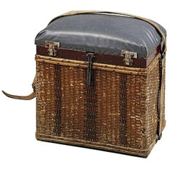 Charming Swedish Fishing Basket / Stool, Circa 1900