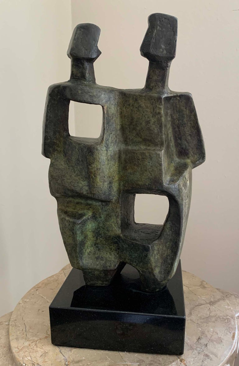 Cubist Couple - Sculpture by Charna Rickey