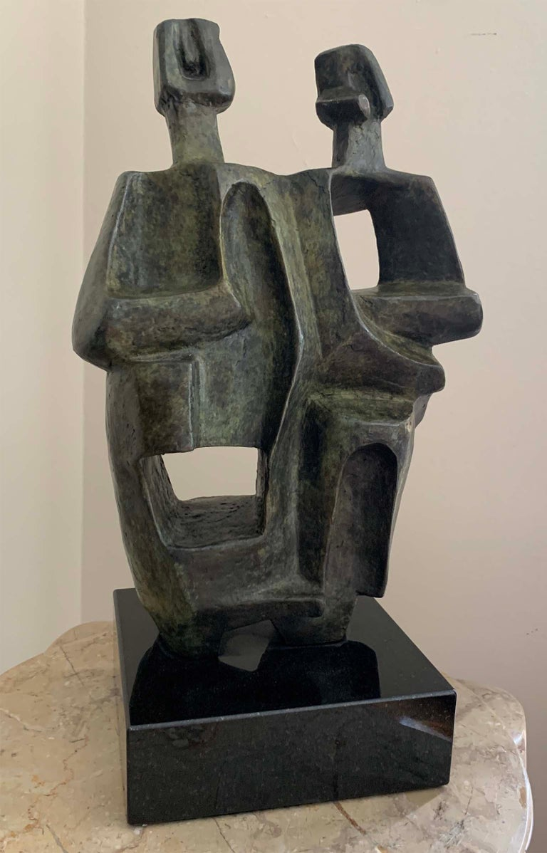 Charna Rickey Abstract Sculpture - Cubist Couple
