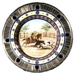 Charrería Ceramic and White Metal 'Alpaca' Set of Plates