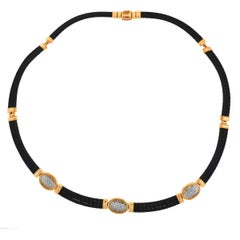 Charriol 18 Karat Rose Gold Diamond Flamme Blanche Choker Necklace