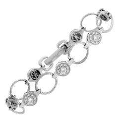 Charriol 18 Karat White Gold 0.75 Carat Diamond Bracelet