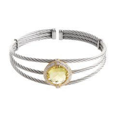 Charriol Celtic Classique Stainless Steel Yellow Gold-Plated Diamonds and Lemon