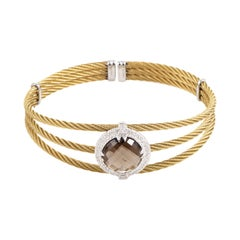 Charriol Celtic Classique Stainless Steel Yellow Gold-Plated Diamonds and Smoky