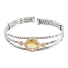 Charriol Celtic Classique Stainless Steel Yellow Gold-Plated Diamonds and Yellow