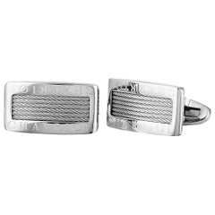 Charriol Celtic Stainless Steel Cable Rectangle Cufflinks