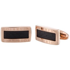 Charriol Celtic Stainless Steel, Gold and Black Rhodium Plated Cufflinks