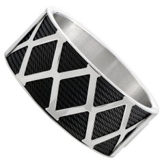 Charriol Forever Stainless Steel and Black PVD Bracelet Size Extra Large