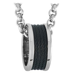 Charriol Forever Stainless Steel and Black PVD Necklace and Ring Set