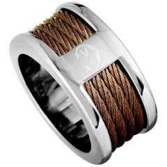 Charriol Forever Stainless Steel and Bronze PVD Cable Band Ring