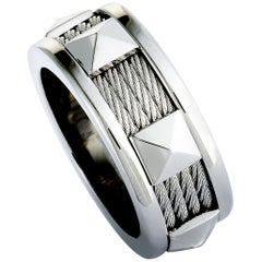 Charriol Forever Stainless Steel Cable Band Ring