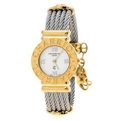 Charriol Grey Gold-Plated Stainless Steel St Tropez Women's Wristwatch 24 mm