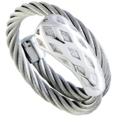 Charriol Morning Dew Stainless Steel Spiral Cable Ring