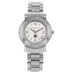 Charriol Parisii Silver Guilloche Steel Quartz Ladies Watch P33S.P33.001