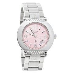 Charriol Pink Stainless Steel Diamond Colvmbvs CCR38 Women's Wristwatch 38 MM