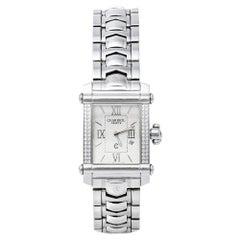 Charriol Silver Stainless Steel Diamonds Colvmbvs CCSTRH Women's Wristwatch 25mm