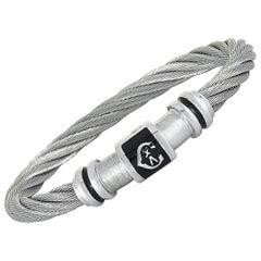 Charriol Stainless Steel Bangle Bracelet Size Medium