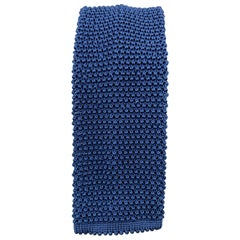 CHARVET Blue Silk Textured Knit Tie