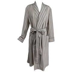 Charvet Paris Striped Cotton Robe