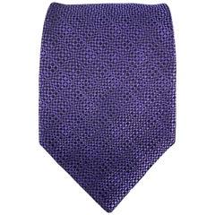 CHARVET Purple Woven Silk Tie