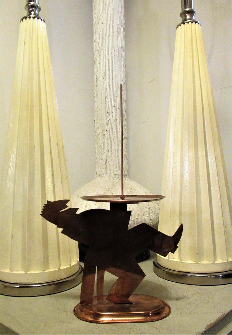American Art Deco Copper Pretzel Man by Lurelle Guild for Chase For Sale 6