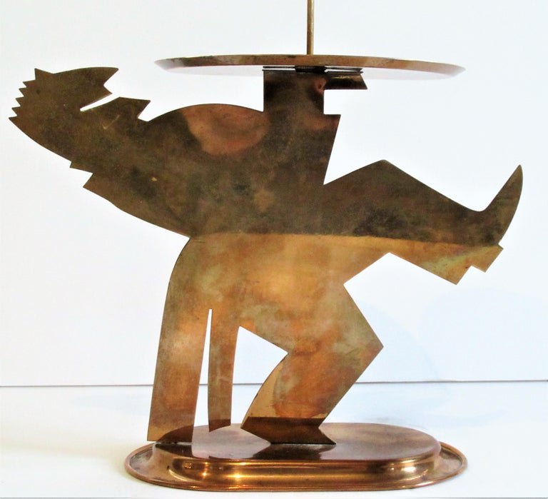 American Art Deco cut copper