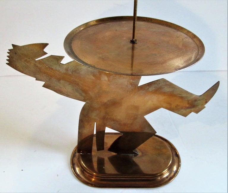 American Art Deco Copper Pretzel Man by Lurelle Guild for Chase For Sale 1