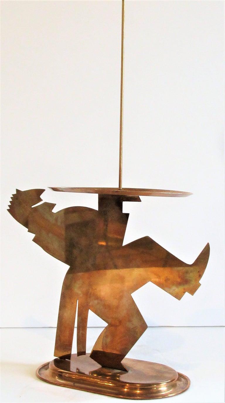 American Art Deco Copper Pretzel Man by Lurelle Guild for Chase For Sale 2