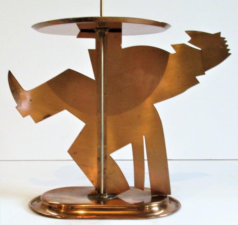 American Art Deco Copper Pretzel Man by Lurelle Guild for Chase For Sale 4