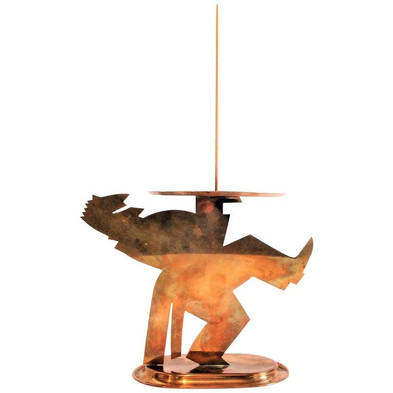 American Art Deco Copper Pretzel Man by Lurelle Guild for Chase For Sale