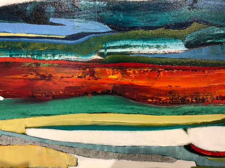 Sunset Beach 2 - Contemporary Painting by Chase Langford