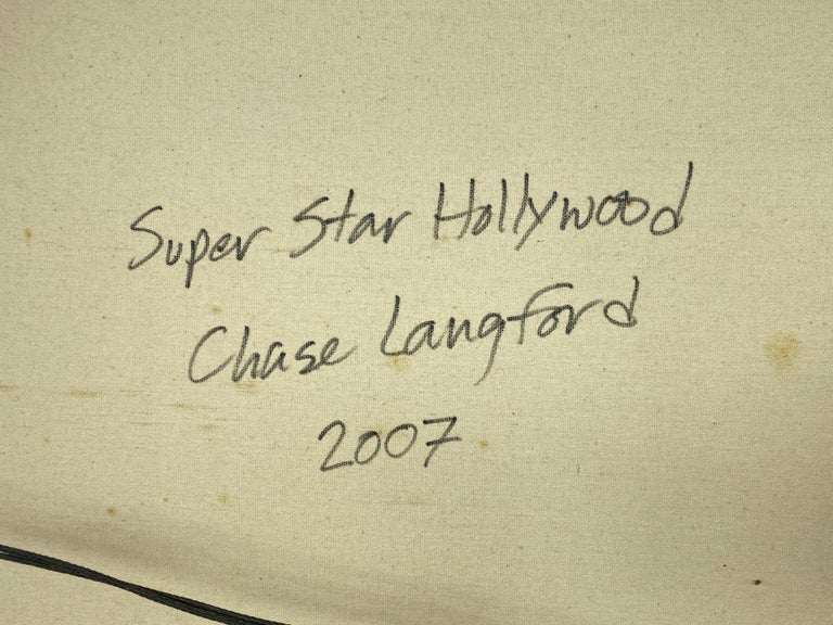 "Chase Langford ""Super Star Hollywood"", Monumental Mixed-Media Painting, 2007 For Sale 11"
