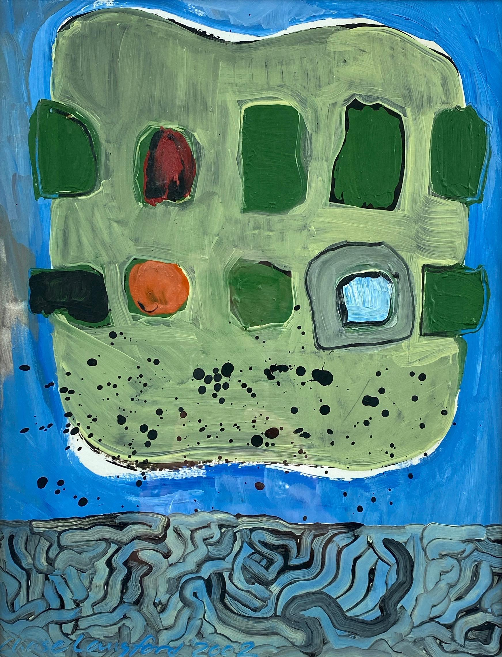 """Chase Langford """"Untitled"""", Abstract Expressionist Oil Painting, 2002"""