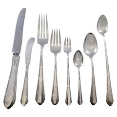 Chased Diana by Towle Sterling Silver Flatware Set Service 50 Pcs Dinner