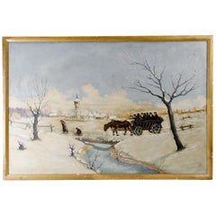 Chassidim in the Winter Landscape by Kraus Walter