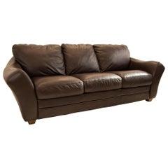 Chateau D Ax Mid Century Leather Sofa