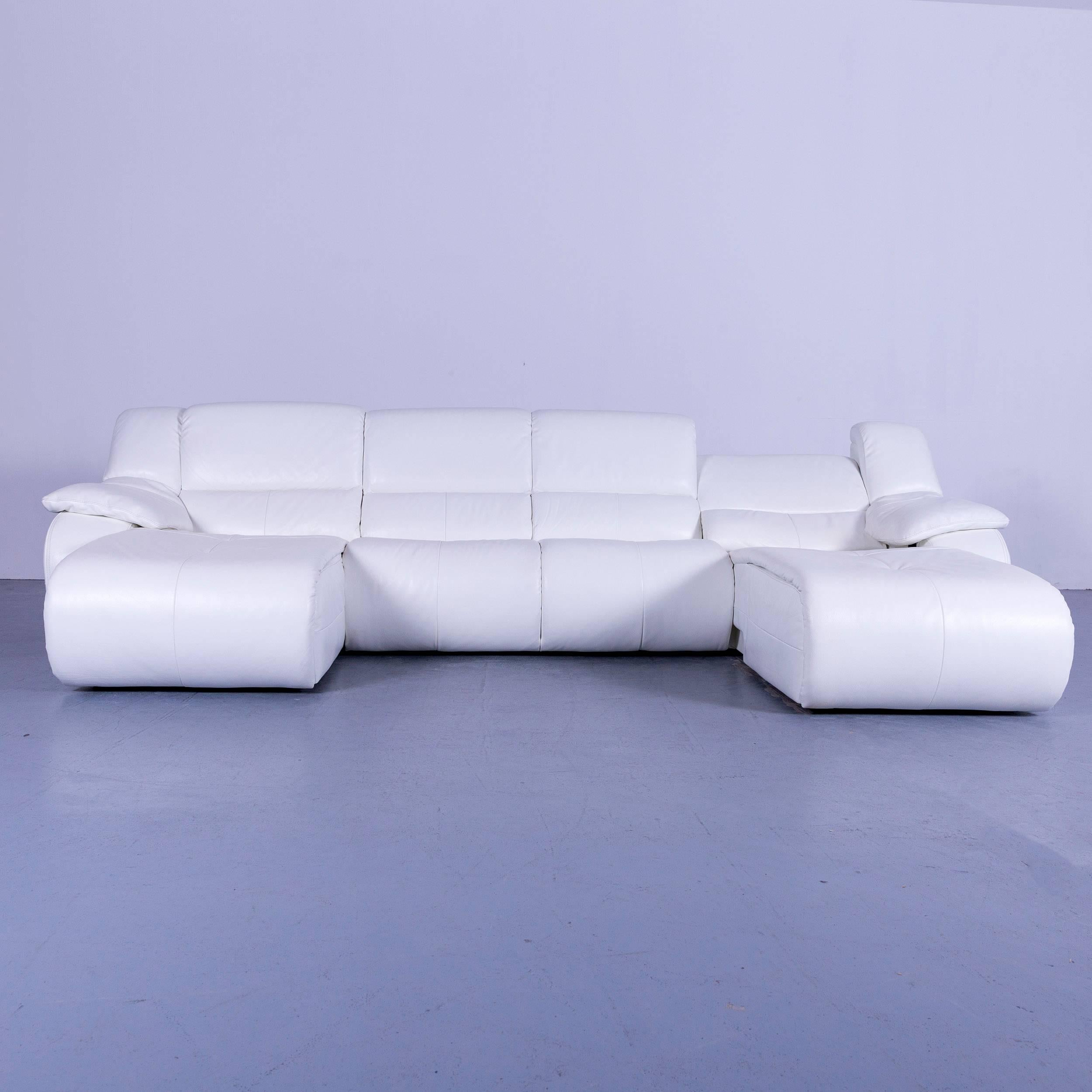 We Bring To You An Chateau D`Ax Bamboo Leather Corner Sofa White Electric