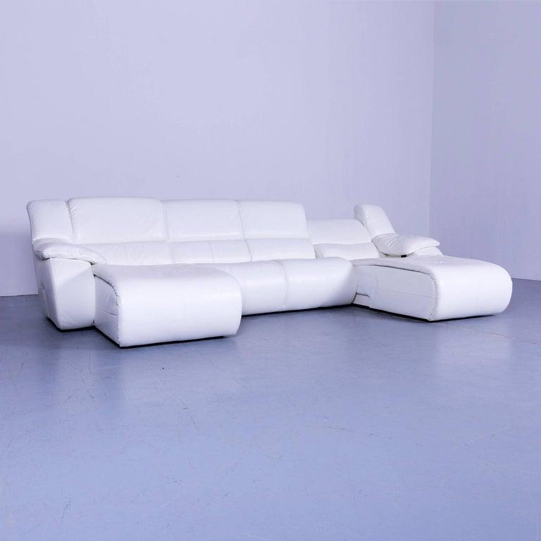chateau d ax leather sofa. Italian Chateau D`Ax Bamboo Leather Corner-Sofa White Electric Recliner For Sale D Ax Sofa A