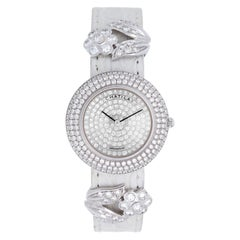 Chatila Ladies White Gold Diamond Pave Arc-en-Ciel Wristwatch