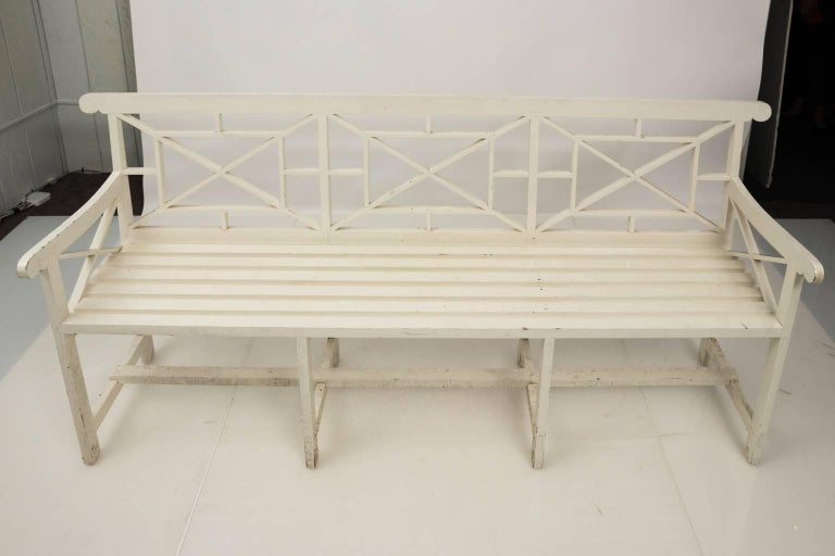 Chatsworth Estate Painted Bench For Sale 5
