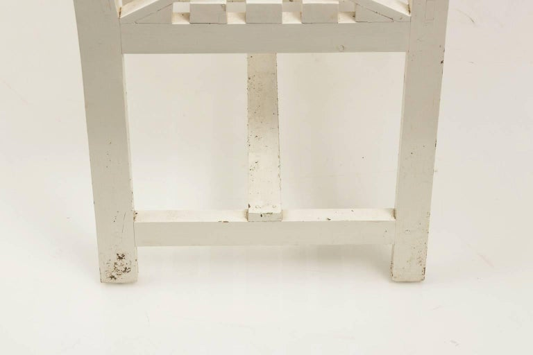 Late 20th Century Chatsworth Estate Painted Bench For Sale