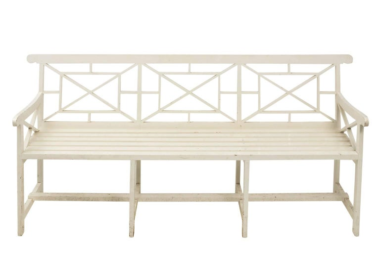 Chatsworth Estate Painted Bench For Sale 2