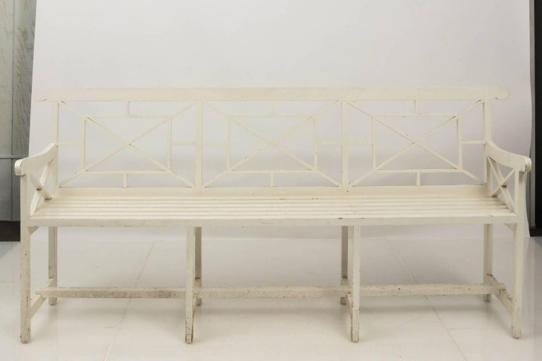 Chatsworth Estate Painted Bench For Sale 3