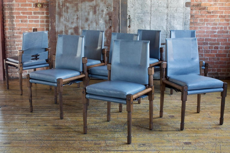 American Chatwin Dining Chairs Darkened Walnut, Handcrafted by Richard Wrightman Design For Sale