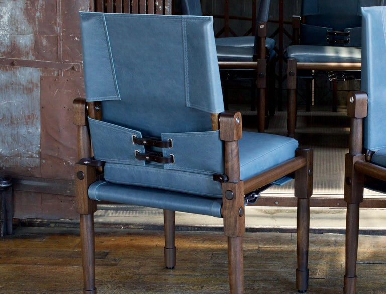 Oiled Chatwin Dining Chairs Darkened Walnut, Handcrafted by Richard Wrightman Design For Sale
