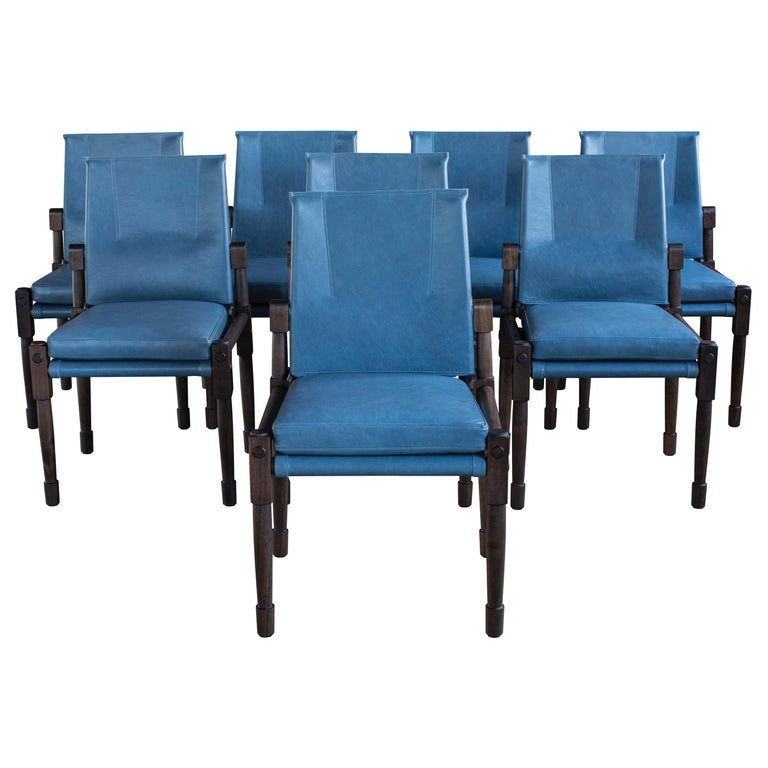 Chatwin Dining Chairs Darkened Walnut, Handcrafted by Richard Wrightman Design For Sale