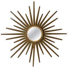 Chaty Vallauris 1950s Petite Sunburst Mirror
