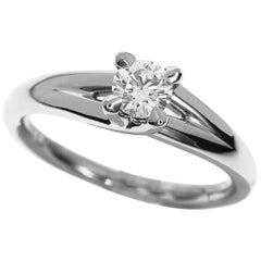 Chaumet 0.25 Carat Diamond Liens Solitaire Platinum Ring