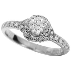 Chaumet 0.30 Carat Diamond Platinum Liens d'amour Solitaire Ring